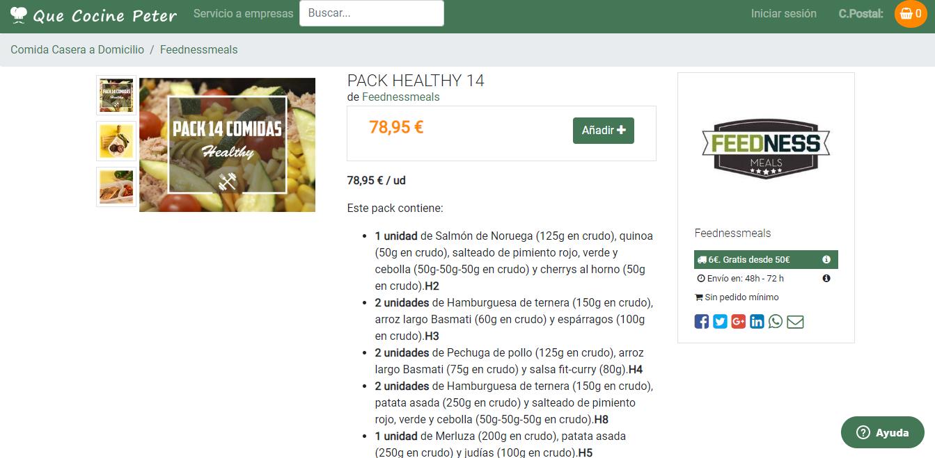 feednessmeals comida sana